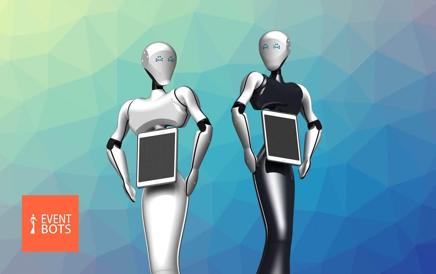 Event Bots :  conçoit et fabrique des robots humanoïdes d'accueil TiKi et Maava