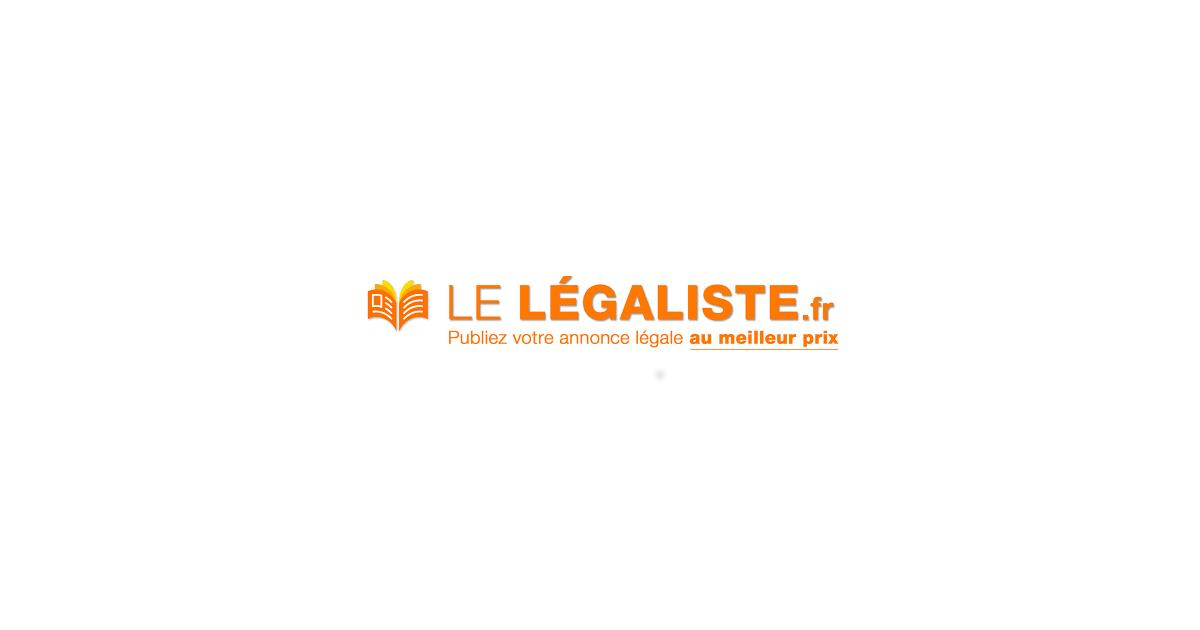 Le légaliste formulaires d'annonces légales en ligne