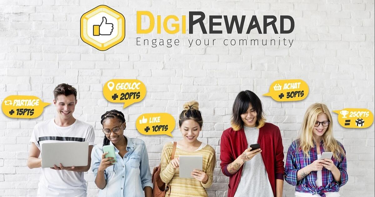 DigiReward solution de fidélisation et d'engagement pour récompenser les actions des fans et clients